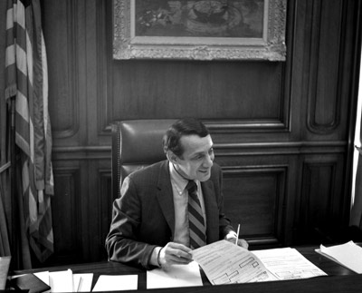 Harvey Milk in 1978 in the San Francisco Mayor's office